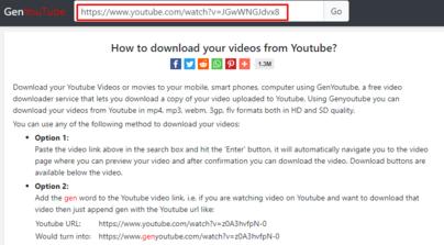 genyoutube download youtube videos