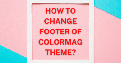 how to remove footer from colormag theme