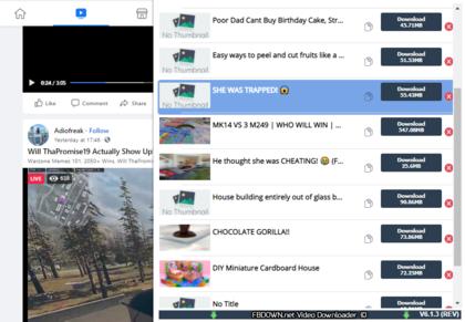 fbdown video downloader extension