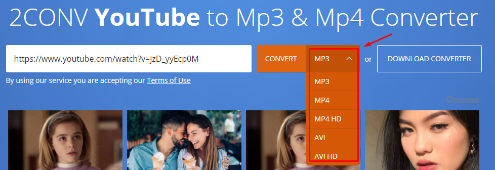 youtube to mp3 2conv