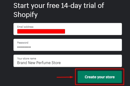 How to create a Shopify account?